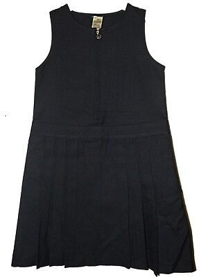 NEW GIRLS EX STORE NAVY FLOWER ZIP KNIFE PLEAT SCHOOL PINAFORE AGE 3-10 yrs A