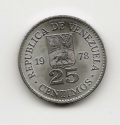 World Coins - Venezuela 25 Centimos 1978 Coin Y# 50