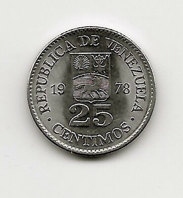World Coins - Venezuela 25 Centimos 1978 Coin Y# 50 ; Lot-V2