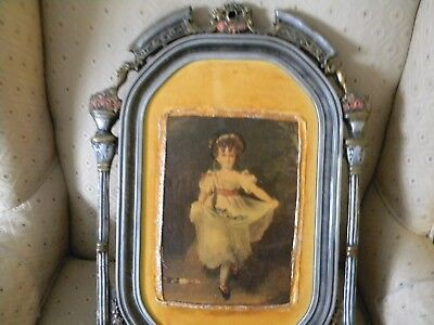 Antique 18th-19th Century Oil Painting in Ornate Wooden  Frame