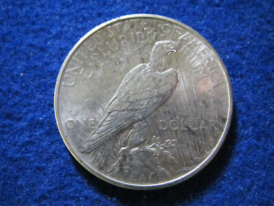 1925 Peace Silver Dollar - Light, Iridescent Toned AU+/BU - Free U S Shipping