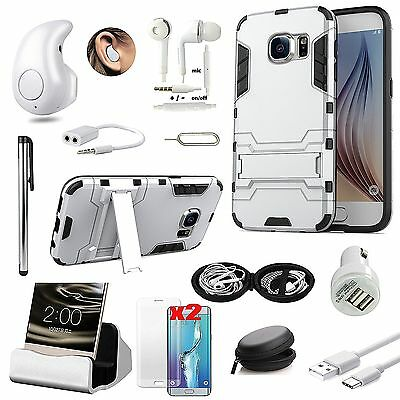 Sliver Kickstand Case Bluetooth Headset Accessory Kit For Samsung Galaxy A9 Pro