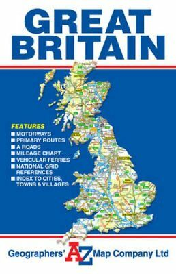 Great Britain Road Map by Geographers' A-Z Map Co Ltd (Sheet map, folded, 2015)