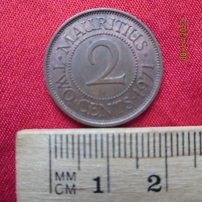Mauritius - 2 Two Cents 1971