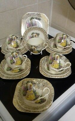 Crinoline Lady tea set un-named  18 pieces