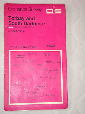 1974 Ordnance Survey Map Torbay and South Dartmoor Sheet 202