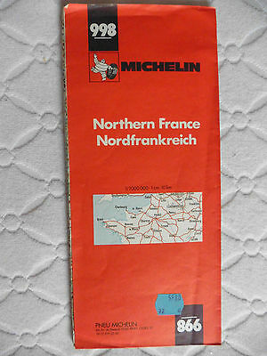 1983 Michelin Map 998 Northern France