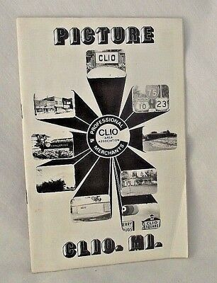 Clio Michigan Picture Business City Government 1981 Advertising Merchant History
