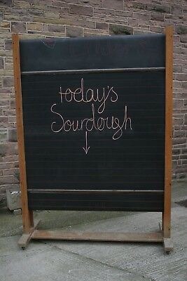 A Large Vintage Revolving Blackboard by Wilson and Garden Ltd, Kilsyth, Glasgow