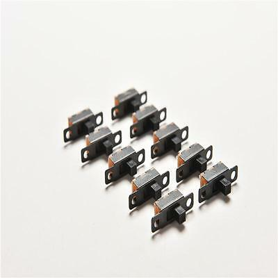 Pop 20pcs 5V 0.3A Black Mini Size SPDT Slide Switch On-Off 3-Pin PCB for DIY PF