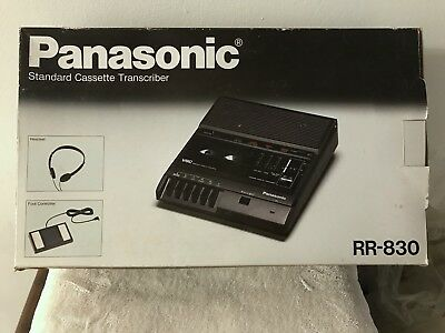 Panasonic RR-830 Cassette Dictation Transcriber Machine w/Foot Pedal - tested