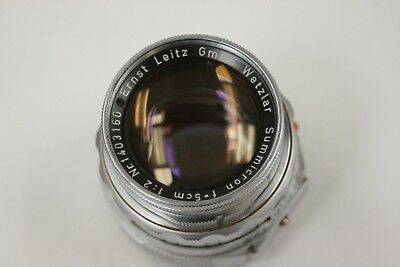 Leica 50mm f2.0 M Summicron DR lens with front cap