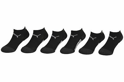 Puma Toddler Boy's 6-Pairs Grey Athletic Low Cut Socks Sz: 5-6.5 Fits 4-8.5