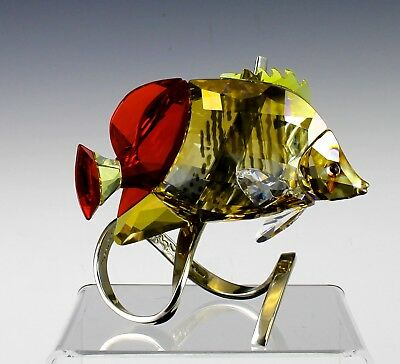 Very Fine Swarovski Crystal Paradise Fish Butterfly Fish Light Siam Red 1040347