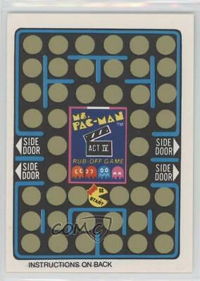 1981 Fleer Ms Pac-Man Stickers Rub-Off #NoN Unscratched Game Card (Act IV) 5l1