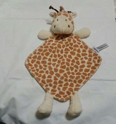 Babies R Us Giraffe Plush Security Blanket 2013 Lovey BRU Floppy Soft Toy 12""