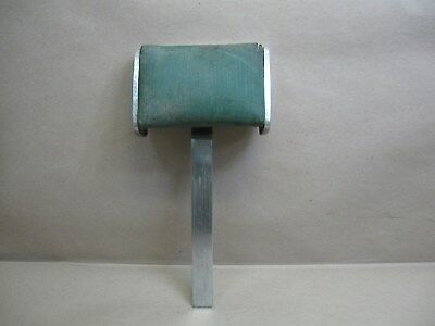 "Vtg Emil J Paidar ""1963"" Barber Chair Part Headrest w/ Pad Paper Cutter & Roller"