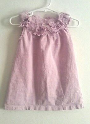 Tea Collection Blooming Lilly Shift Dress Tulle A Line Purple Violet Size 2T 2