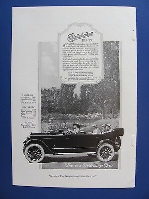1920 Studebaker Big Six Automobile With Ladies Photo Insert Ad  #6