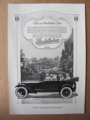 1920 StudebakerSpecial Six Automobile Ladies In Car Photo Insert Ad #3