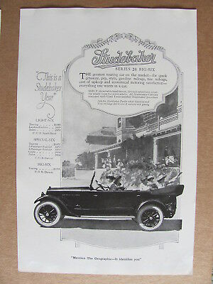 1920 Studebaker Series 20 Big Six Automobile Ladies In Car Photo Insert Ad #2