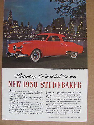 1950 Studebaker Red Automobile Color Ad