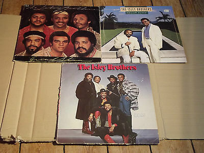 THE ISLEY BROTHERS - GRAND SLAM / SMOOTH SAILIN' / GO ALL THE WAY - 3 LPs