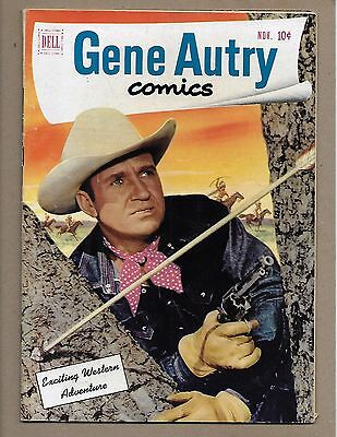 Gene Autry Comics #57~Imposter~Indian Arrow cover~Photo pin-up~Dell Western 1951
