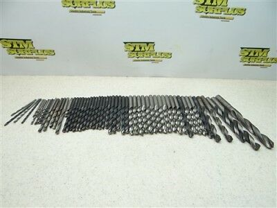 """Large Lot Of 50+ Assorted Hss Drills 7/64"""" To 31/64"""" Cleveland Dtd Morse"""