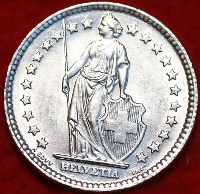 Uncirculated 1961 Switzerland 2 Francs Silver Foreign Coin Free S/H