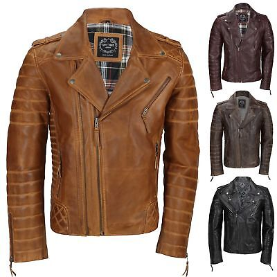 Mens Maroon Vintage Genuine Lambskin Real Leather Biker Jacket Slim Fit 2 Zips