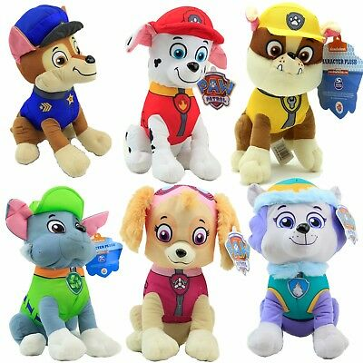 """Paw Patrol 9"""" Character Rubble Marshall Skye Chase Everest And Rocky Plush Toy"""