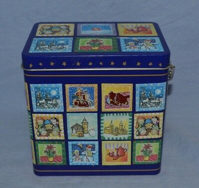 Lambertz Germany Musical Wind-Up Empty Cookie Tin Playing A Christmas Carol