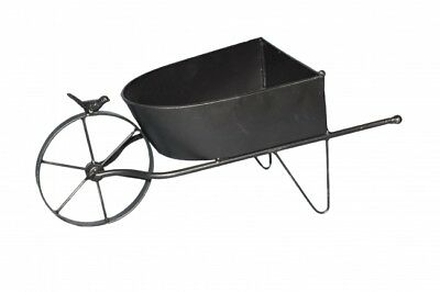 Antique Home Garden Decorative Metal Wheelbarrow Planter Flower Plant Holder