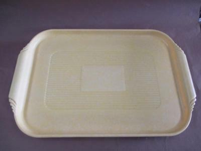 Serving tray, bakelite, yellow, Art Deco, rare