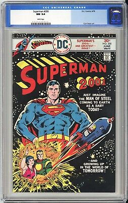 Superman #300  Cgc Nm 9.4 - Very Old Label - Mile High Collection - White Pages