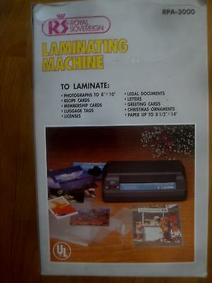 Royal Sovereign RPA - 3000 Business Document Laminator 8 1/2 X 14 Inches