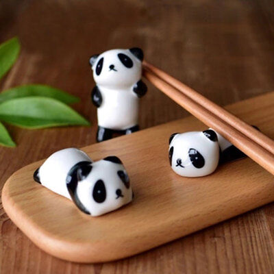 1*Home Mini Random Cute Porcelain Ceramic Panda Chopstick Stand Rest Rack Holder