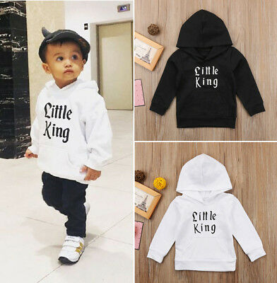 Kids Baby Boy Hoodie Top Hooded Sweatshirt Hooded T-shirt Coat Outerwear Clothes