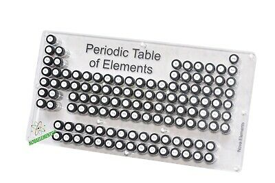 Periodic table of Elements, element collection box fun chemistry set with labels