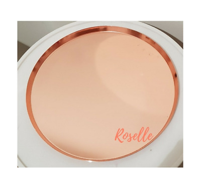Roselle Rose Gold Round Tray