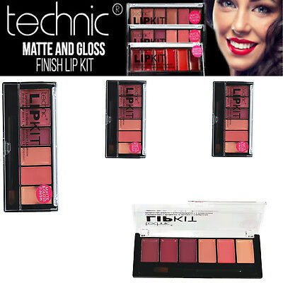 Technic Lip Kit - Lipgloss Lipstick Set Makeup Pink Nude Red Plum Matte Gloss