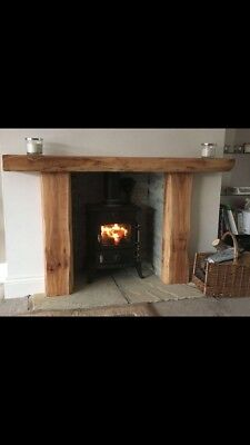 Vintage Solid Oak Fire Place Surrounds