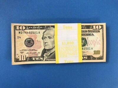 2013 Sequential Collectible 100 New Uncirculated $10 Dollar Bills