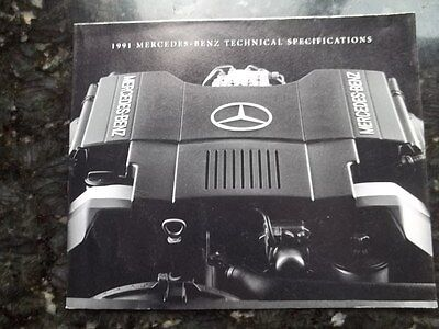 1991 Mercedes-Benz Technical Specifications Sales Brochure  covers all models 91