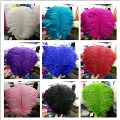 Wholesale 10-200pcs High Quality Natural OSTRICH  FEATHERS 14-16nch/35-40cm