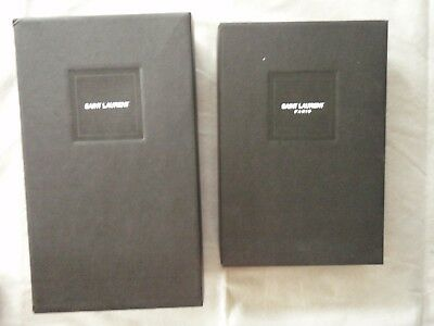 Saint Laurent shoe box and dust bags, pair, empty from sneakers