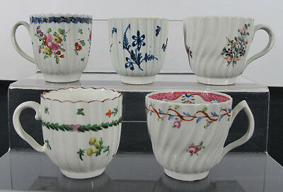 China Trade Export Porcelain Group of Tea Coffee Cups (5) 1800's Antique #3 yqz