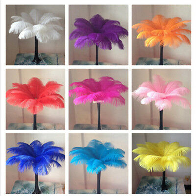 Wholesale 10-100pcs High Quality Natural OSTRICH  FEATHERS 16-20inch/40-50cm