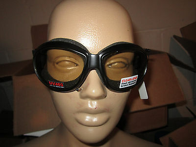 Eliminator Motorcycle Padded Goggles NEW Riding Clear Mirror Googles Mini Bike